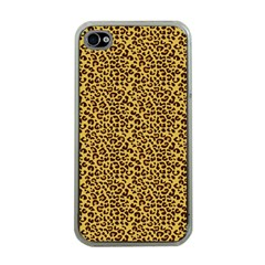 Animal Texture Skin Background Apple Iphone 4 Case (clear)
