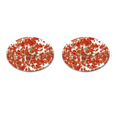 Vivid Floral Collage Cufflinks (oval) by dflcprints
