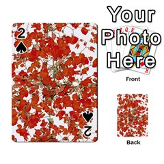 Vivid Floral Collage Playing Cards 54 Designs  by dflcprints