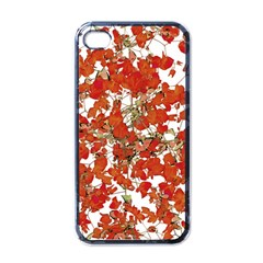 Vivid Floral Collage Apple Iphone 4 Case (black) by dflcprints