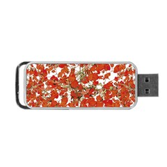 Vivid Floral Collage Portable Usb Flash (one Side) by dflcprints