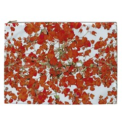 Vivid Floral Collage Cosmetic Bag (xxl)  by dflcprints