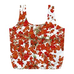 Vivid Floral Collage Full Print Recycle Bags (l)  by dflcprints