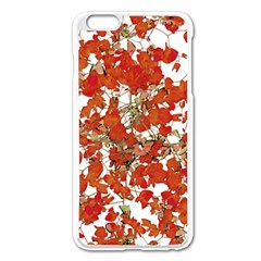 Vivid Floral Collage Apple Iphone 6 Plus/6s Plus Enamel White Case by dflcprints