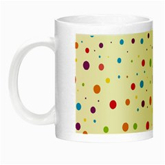 Colorful Dots Pattern Night Luminous Mugs