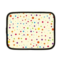 Colorful Dots Pattern Netbook Case (small)