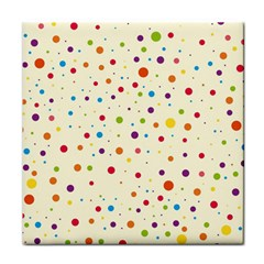 Colorful Dots Pattern Face Towel