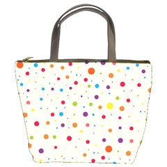Colorful Dots Pattern Bucket Bags