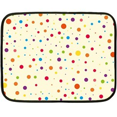 Colorful Dots Pattern Double Sided Fleece Blanket (mini)  by TastefulDesigns