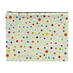 Colorful Dots Pattern Cosmetic Bag (xl)