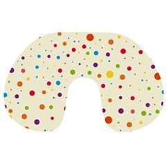 Colorful Dots Pattern Travel Neck Pillows
