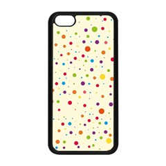 Colorful Dots Pattern Apple Iphone 5c Seamless Case (black) by TastefulDesigns