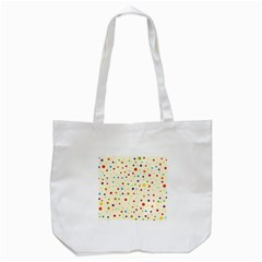 Colorful Dots Pattern Tote Bag (white)