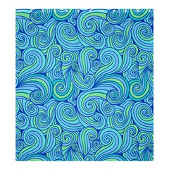 Abstract Blue Wave Pattern Shower Curtain 66  X 72  (large)