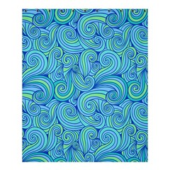Abstract Blue Wave Pattern Shower Curtain 60  X 72  (medium)