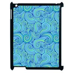 Abstract Blue Wave Pattern Apple Ipad 2 Case (black)
