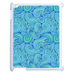 Abstract Blue Wave Pattern Apple Ipad 2 Case (white)
