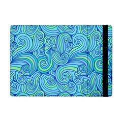 Abstract Blue Wave Pattern Apple Ipad Mini Flip Case