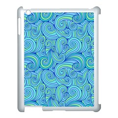 Abstract Blue Wave Pattern Apple Ipad 3/4 Case (white) by TastefulDesigns