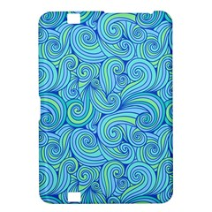 Abstract Blue Wave Pattern Kindle Fire Hd 8 9