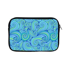 Abstract Blue Wave Pattern Apple Ipad Mini Zipper Cases