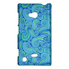 Abstract Blue Wave Pattern Nokia Lumia 720 by TastefulDesigns