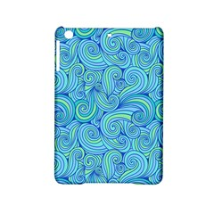 Abstract Blue Wave Pattern Ipad Mini 2 Hardshell Cases