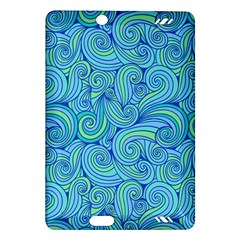 Abstract Blue Wave Pattern Amazon Kindle Fire Hd (2013) Hardshell Case