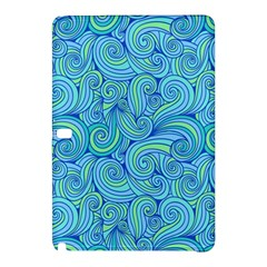 Abstract Blue Wave Pattern Samsung Galaxy Tab Pro 12 2 Hardshell Case