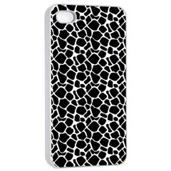 Animal Texture Skin Background Apple Iphone 4/4s Seamless Case (white)