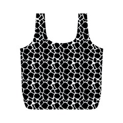 Animal Texture Skin Background Full Print Recycle Bags (m)