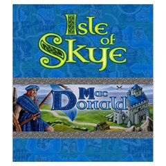 Isle Of Skye   Player Blue By Philipp Wolter   Drawstring Pouch (medium)   Utxu7s4e26el   Www Artscow Com Front