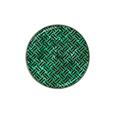 Woven2 Black Marble & Green Marble (r) Hat Clip Ball Marker by trendistuff