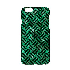 Woven2 Black Marble & Green Marble (r) Apple Iphone 6/6s Hardshell Case by trendistuff