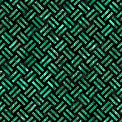 Woven2 Black Marble & Green Marble Magic Photo Cube by trendistuff