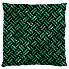 WOV2 BK-GR MARBLE Large Flano Cushion Case (One Side) by trendistuff