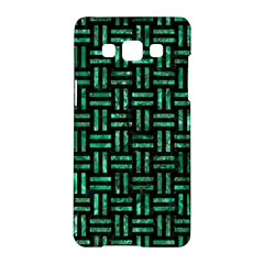 Woven1 Black Marble & Green Marble Samsung Galaxy A5 Hardshell Case  by trendistuff