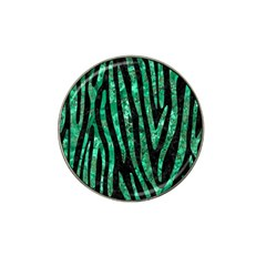Skin4 Black Marble & Green Marble (r) Hat Clip Ball Marker (4 Pack) by trendistuff
