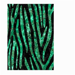 Skin4 Black Marble & Green Marble (r) Large Garden Flag (two Sides) by trendistuff