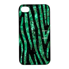 Skin4 Black Marble & Green Marble (r) Apple Iphone 4/4s Hardshell Case With Stand by trendistuff
