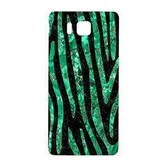 Skin4 Black Marble & Green Marble (r) Samsung Galaxy Alpha Hardshell Back Case by trendistuff
