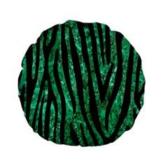 Skin4 Black Marble & Green Marble Standard 15  Premium Flano Round Cushion  by trendistuff