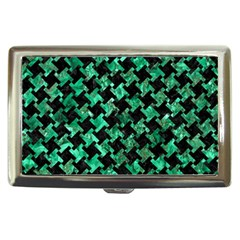 Houndstooth2 Black Marble & Green Marble Cigarette Money Case
