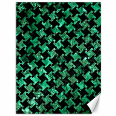 Houndstooth2 Black Marble & Green Marble Canvas 36  X 48  by trendistuff