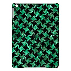 Houndstooth2 Black Marble & Green Marble Apple Ipad Air Hardshell Case by trendistuff