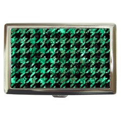 Houndstooth1 Black Marble & Green Marble Cigarette Money Case
