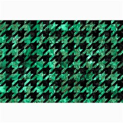 Houndstooth1 Black Marble & Green Marble Collage 12  X 18
