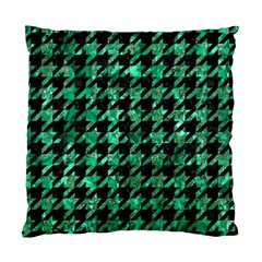 Houndstooth1 Black Marble & Green Marble Standard Cushion Case (two Sides) by trendistuff