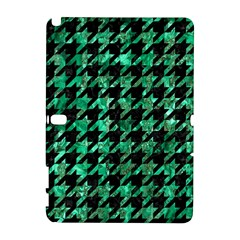 Houndstooth1 Black Marble & Green Marble Samsung Galaxy Note 10 1 (p600) Hardshell Case