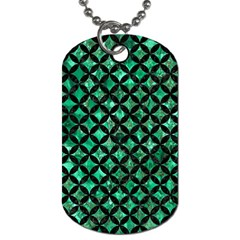 Circles3 Black Marble & Green Marble (r) Dog Tag (one Side) by trendistuff